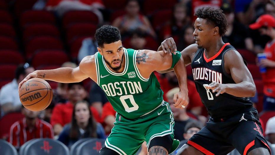 Tatum scores 31, Celtics get first win, 107-97 over Houston