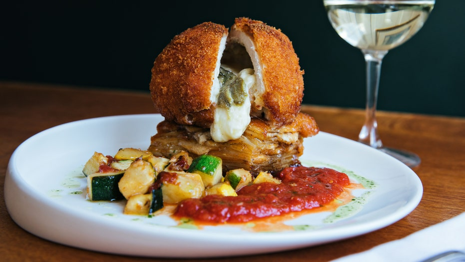 Gooey mozzarella and poblano pepper fried chicken: Try the recipe