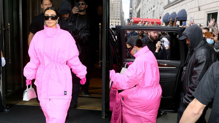Kim Kardashian and Kanye West spotted leaving Ritz Carlton ahead of her first 'SNL' appearance