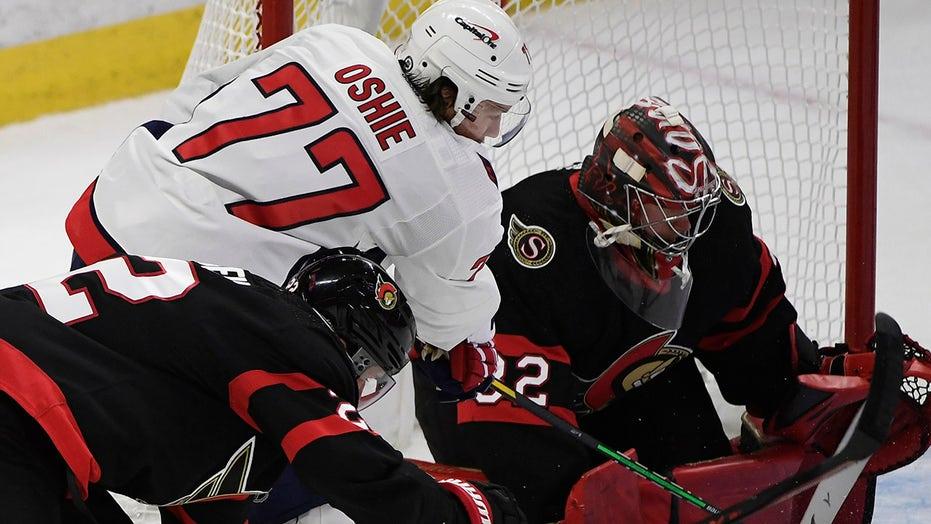Oshie's hat trick lifts Capitals over Senators, 7-5