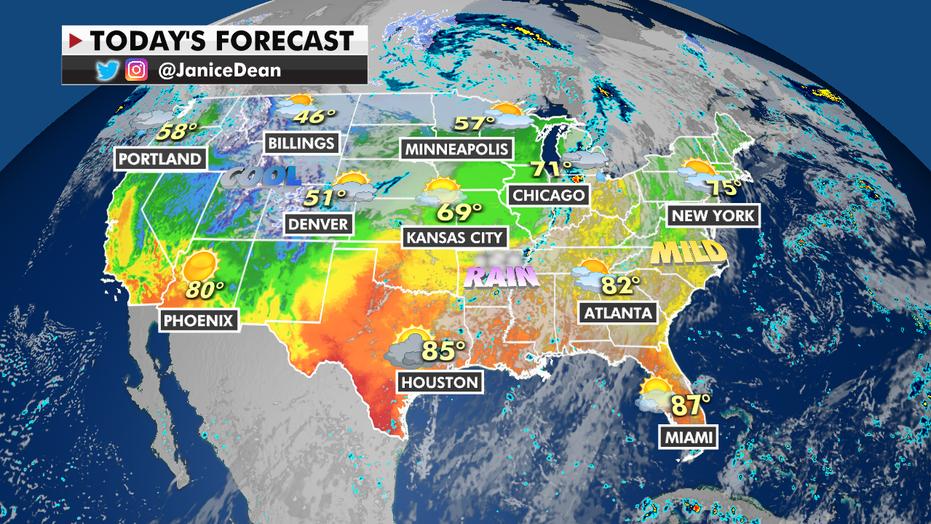 Moisture from Hurricane Pamela brings flooding threats, wet weather to Texas, Oklahoma
