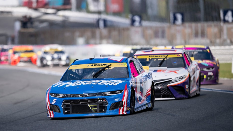 Kyle Larson wins NASCAR Charlotte Roval playoff race as series heads to next round