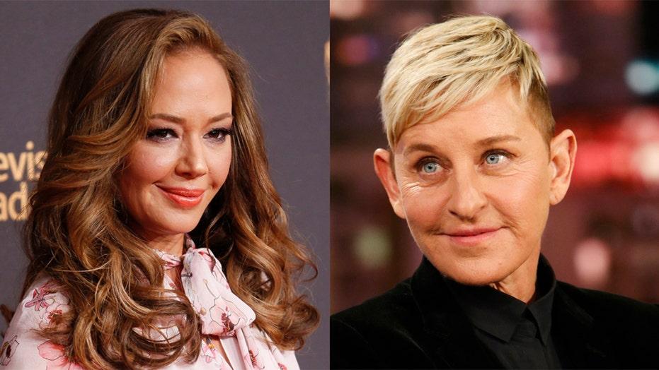 Leah Remini playfully slaps Ellen DeGeneres during awkward on-air chat