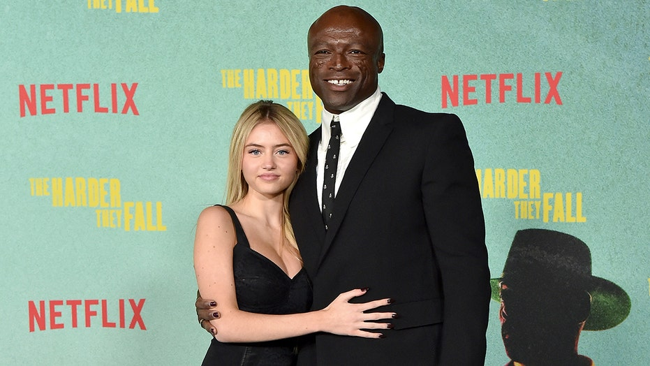 Leni Klum joins dad Seal on red carpet in rare appearance