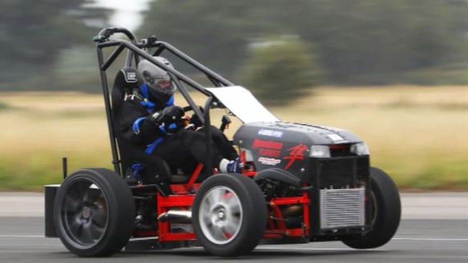 World's fastest lawnmower hits record 143 mph