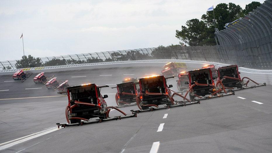 Rain delays NASCAR's Talladega playoff race to Monday: What to know