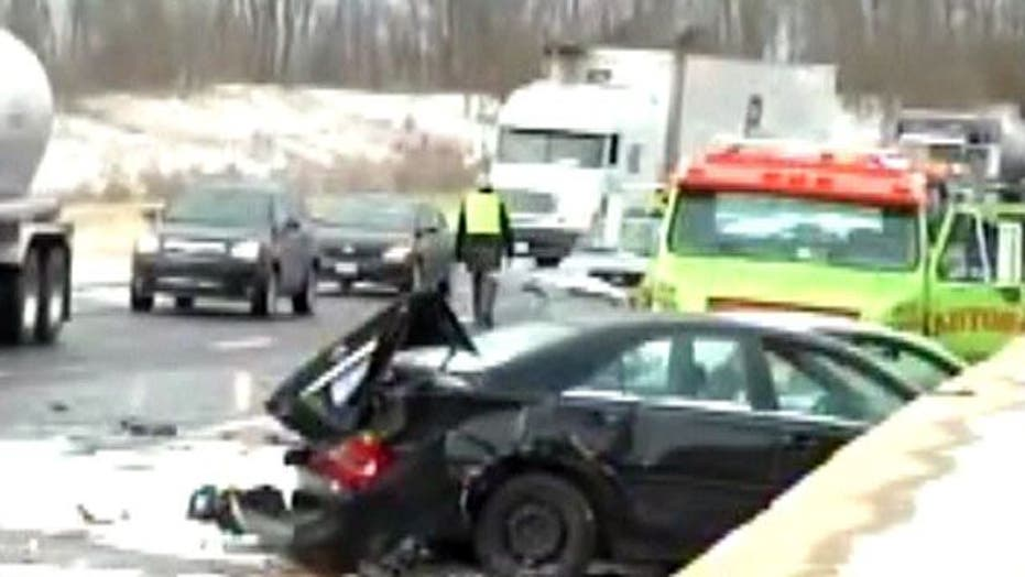Wintry Conditions Cause Pile Up in Kentucky