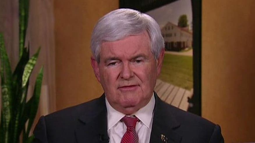 Gingrich on parting words for Romney in Iowa, his presidential campaign strategy in New Hampshire and a possible alliance with Rick Santorum