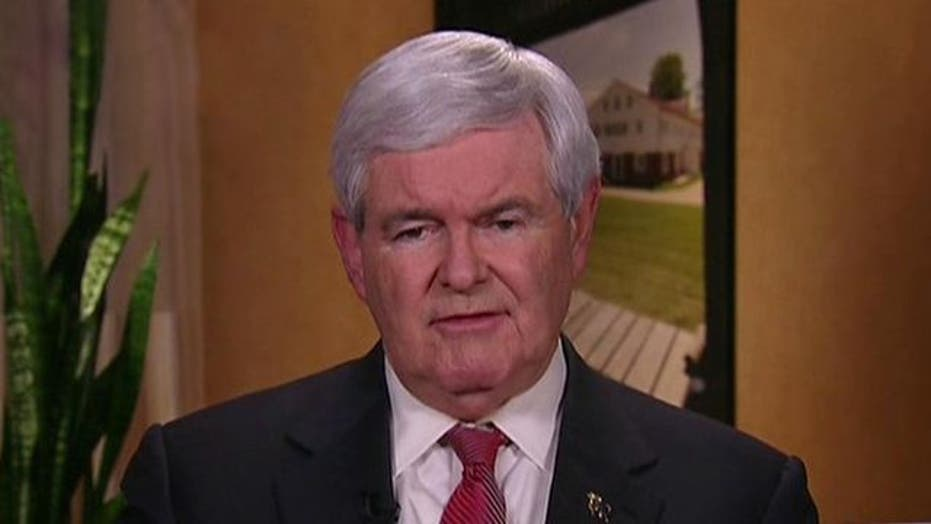 'Angry' Newt on the Attack in Granite State