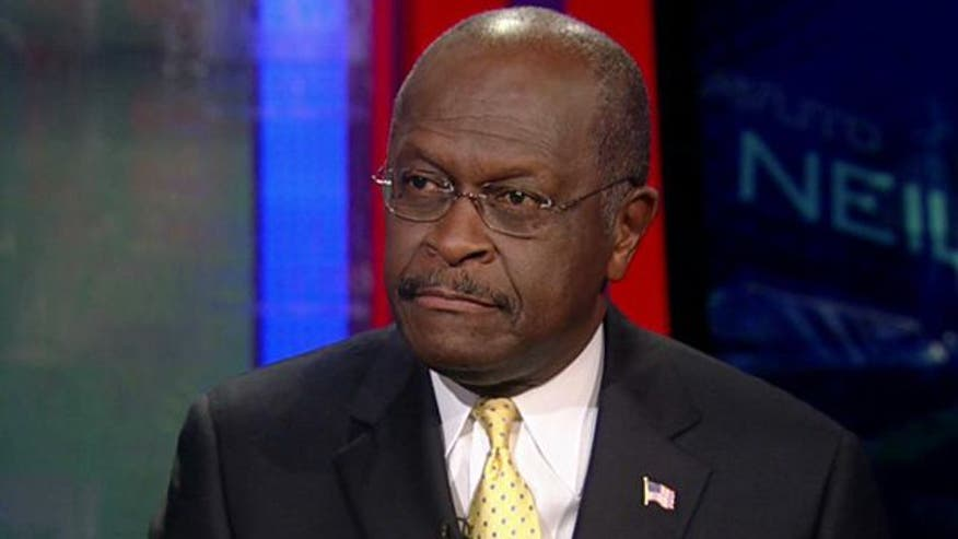 Fmr. presidential candidate Herman Cain reacts to new numbers
