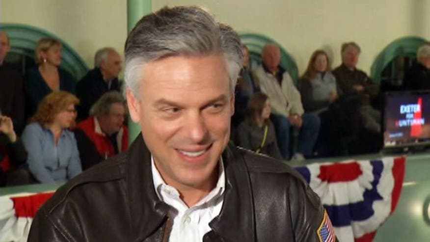 GOP presidential contender Jon Huntsman remains optimistic about showing in New Hampshire primary