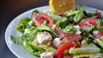 BLT Salad with Creamy Avocado Dressing