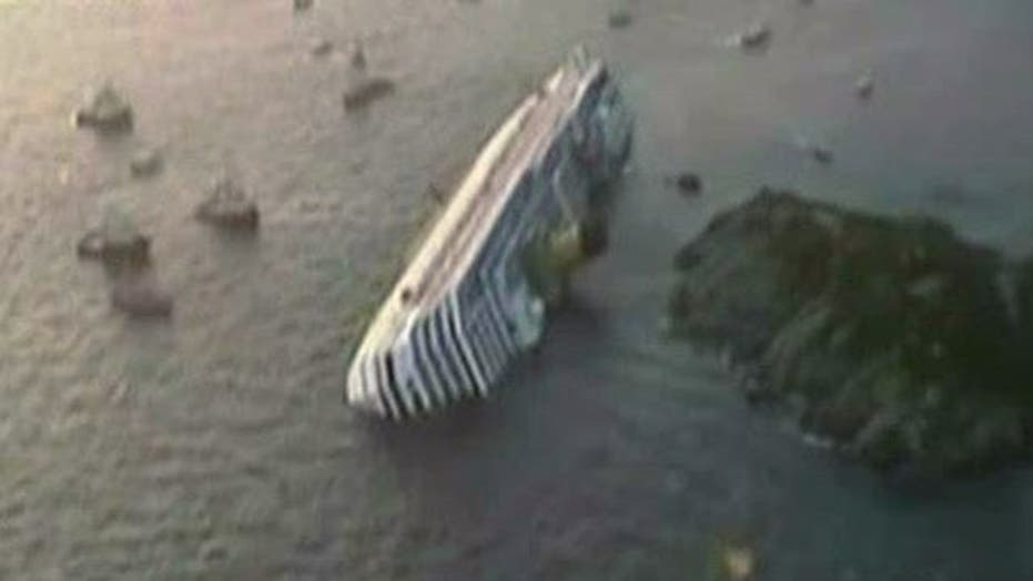 Dramatic Scene as Cruise Ship Runs Aground in Italy