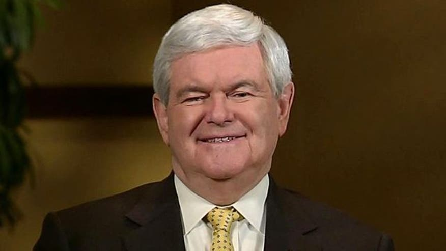 Newt Gingrich rates debate performance