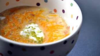 Spicy Corn Soup and Baked Lime Tortilla Chips