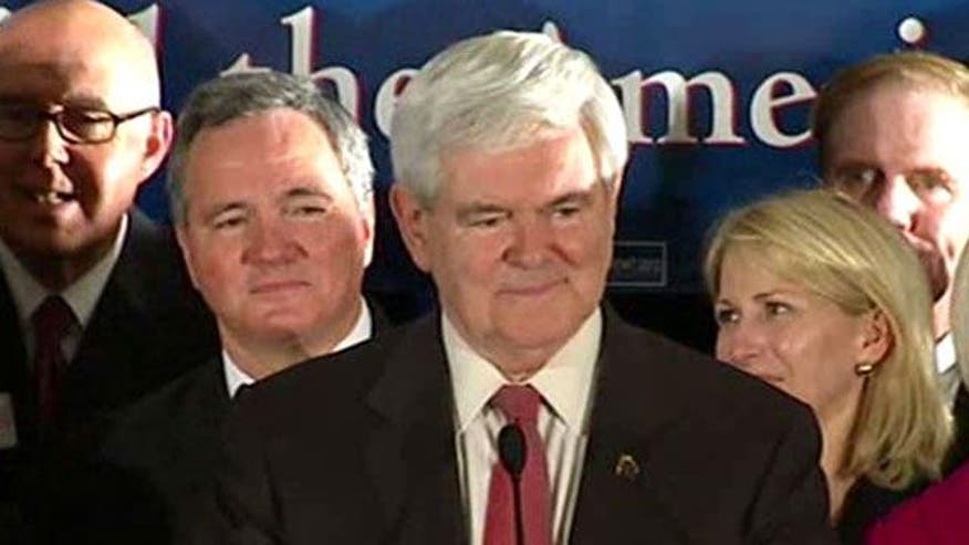 Former House speaker criticizes 'elites' as he celebrates South Carolina victory