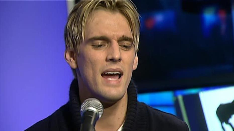Aaron Carter performs