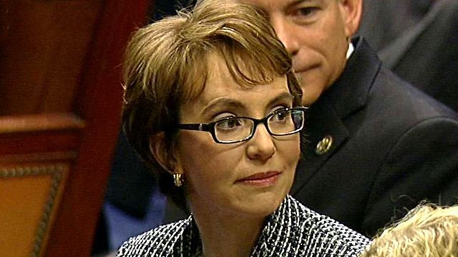 Rep. Gabby Giffords saluted on House Floor