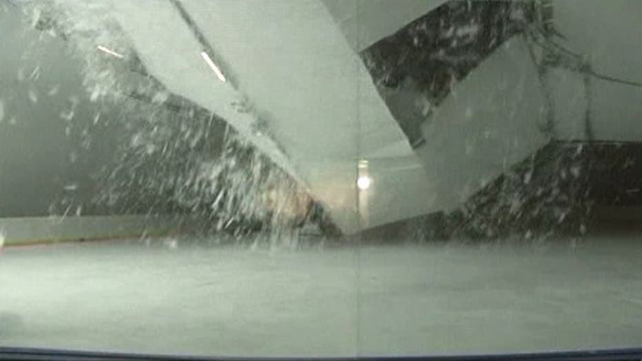 Roof collapses at ice rink