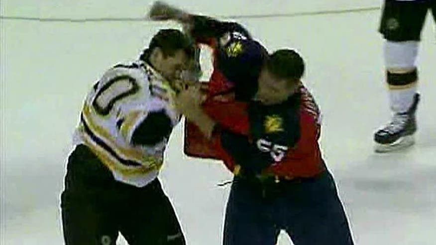 Debate on the necessity of hockey brawls