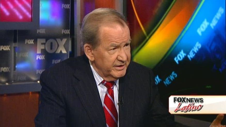 "In this Fox News Latino Exclusive Juan Williams asks Pat Buchanan about his controversial charge that ""Mexico is moving north.""  Juan asks Buchanan if he's afraid of Latinos."