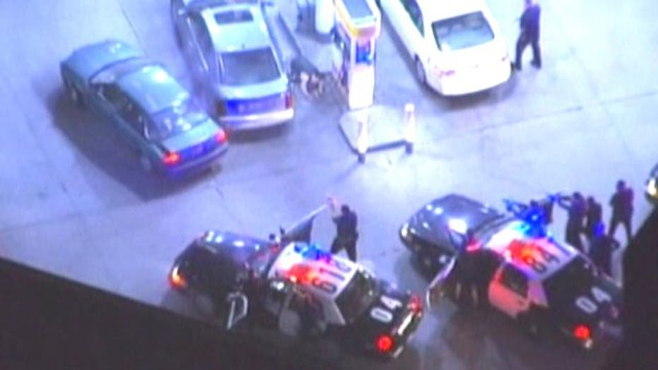 Wild police chase ends in hail of gunfire