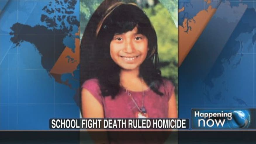 A school fight between elementary girls over a boy has led to the death of a 10-year-old.