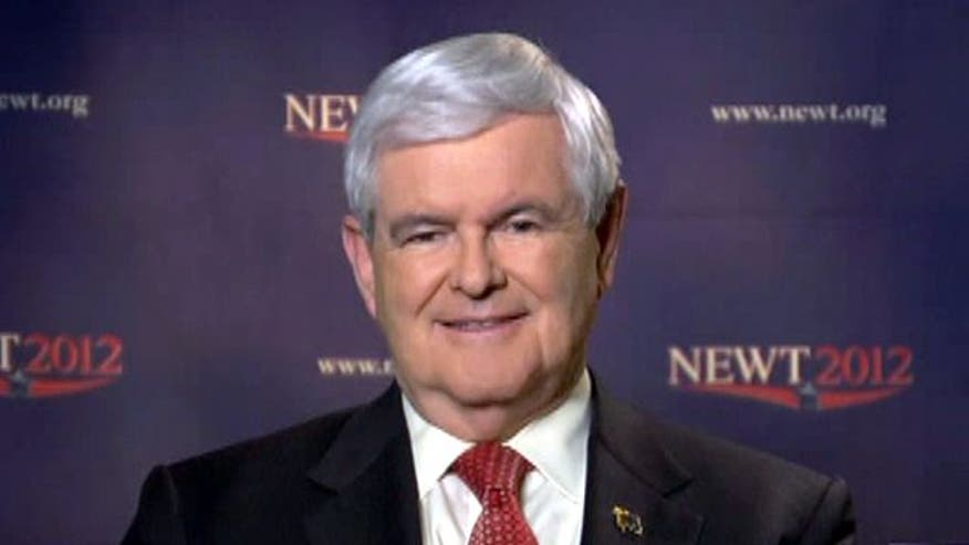 Gingrich confident in strong showing on Super Tuesday