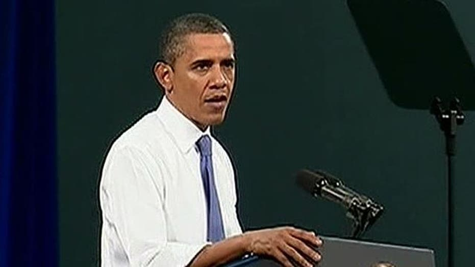 President Obama's sinking poll numbers