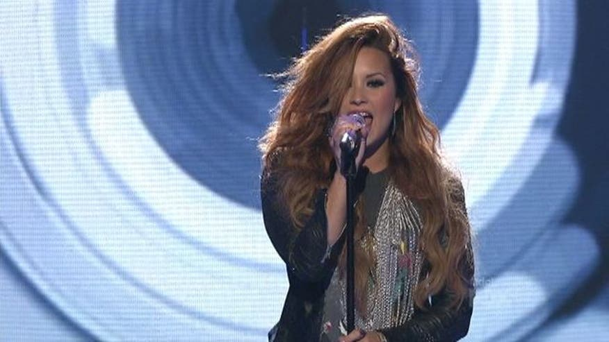 Demi Lovato performs on American Idol on Thursday night.