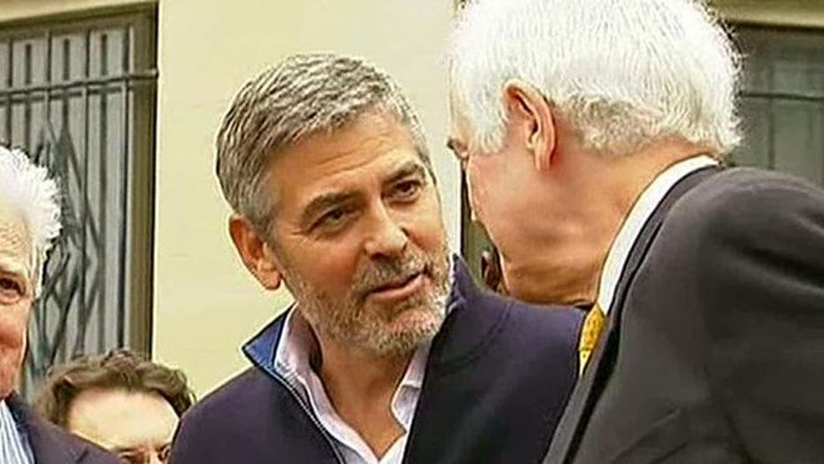 George Clooney arrested in Washington protest