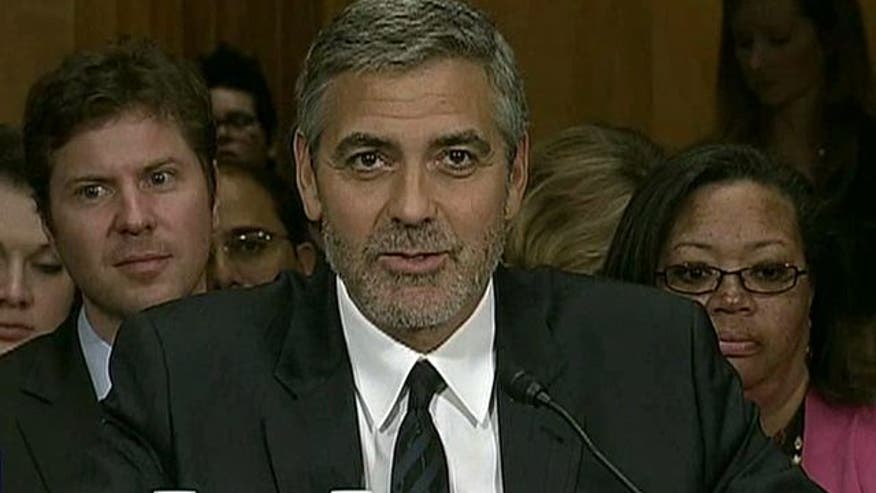 Clooney calling for action in Sudan