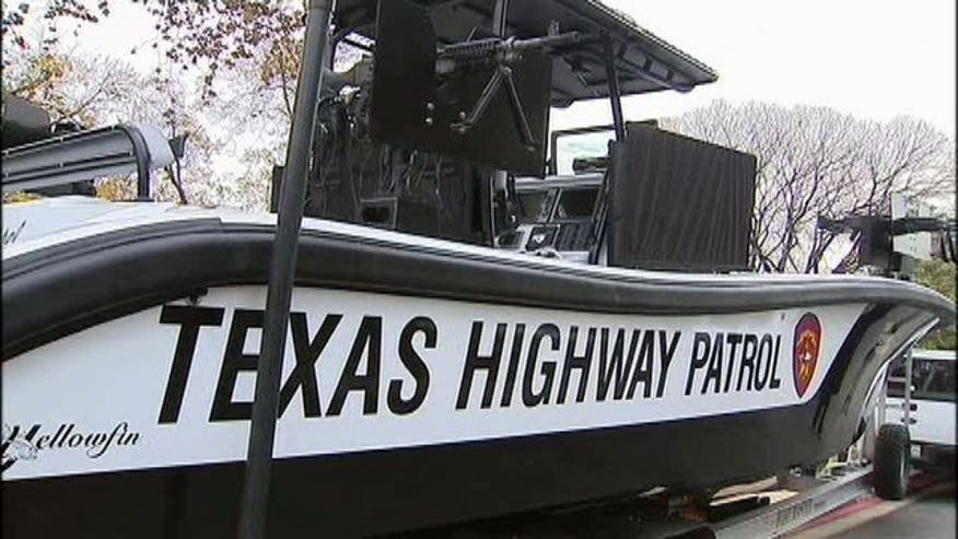 "New gunboats patrolling the Rio Grande River, ""No More Weapons"" billboard placed at Mexico port of entry, and more."