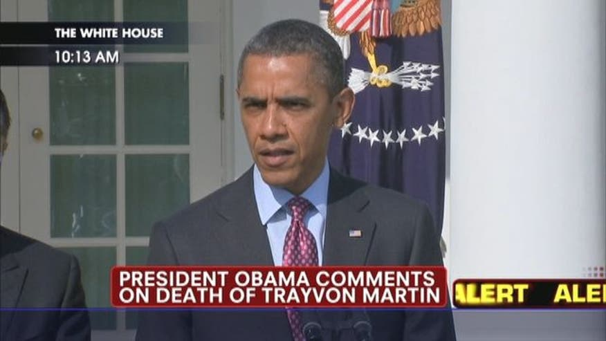 President Barack Obama says if he had a son he'd look like Trayvon.