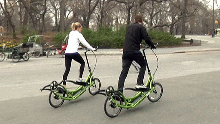 Just in time for spring, Foxnews.com got to test drive a high tech fitness machine that you might recognize from the gym, now in bike form. It's call the ElliptiGo, a modified elliptical trainer that rides the roads like a bicycle.