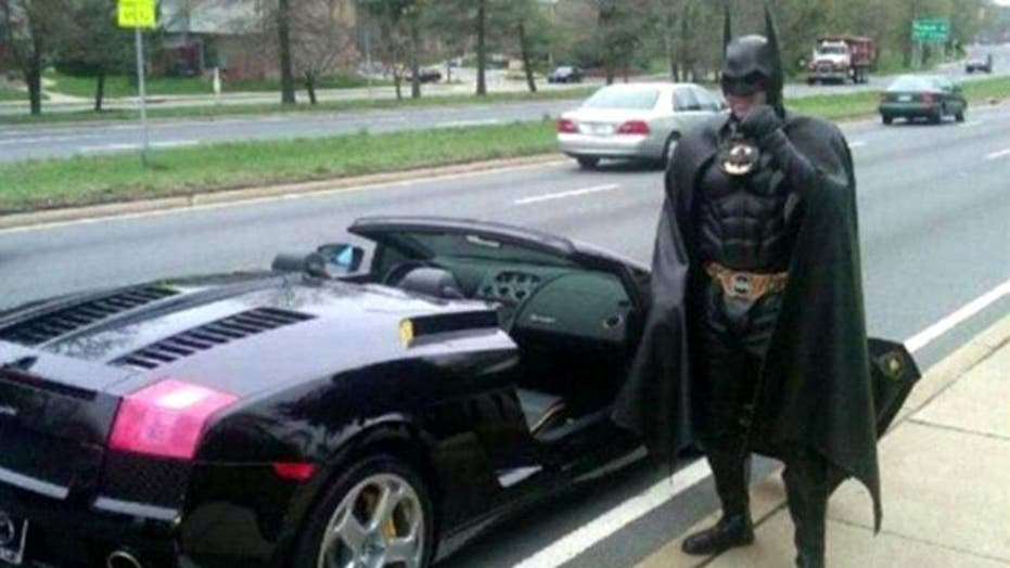 'Batman' pulled over in Lamborghini