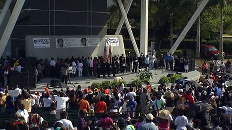 Thousands hold rally for Trayvon Martin in Florida