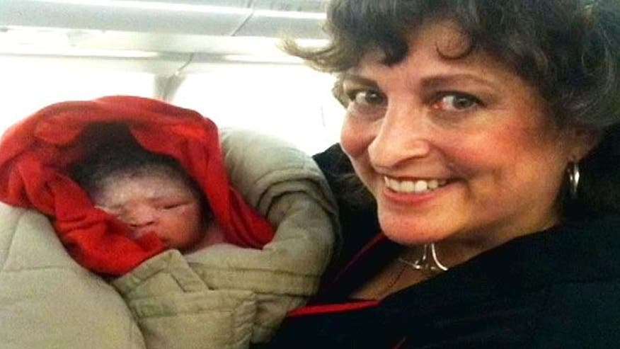 First-time mom goes into labor on plane