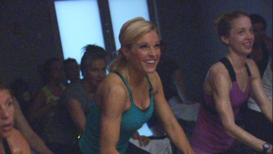 A new exercise trend has people trading a night at the bar for a hardcore workout at the gym. Anna Kooiman visits Soul Cycle in New York City to find out what keeps people coming back to 'party ride'