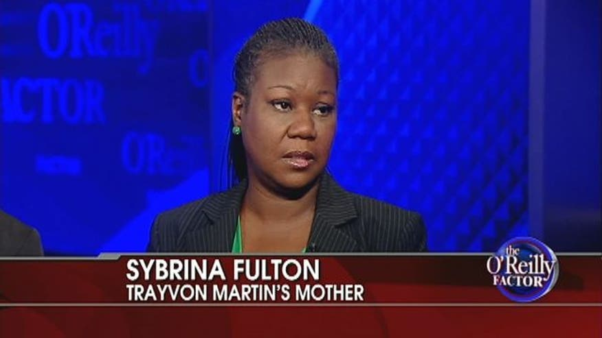 Trayvon Martin's mother speaks of the upcoming murder trial with Bill O'Reilly.