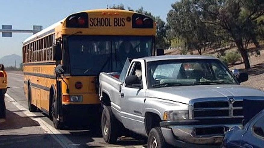Brakes fail on bus causing accident