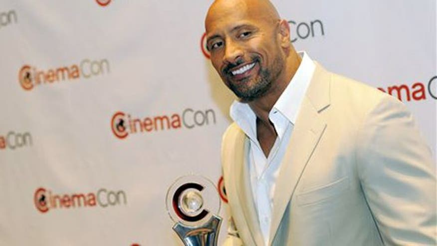 "FOX 411 talks with Dwayne ""The Rock"" Johnson at this year's CinemaCon convention in Las Vegas."