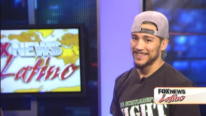 "Fox News Latino's Victor Garcia speaks with UFC fighter Louis Gaudinot about his fight this Saturday at the ""UFC on Fox"" Event in New Jersey."