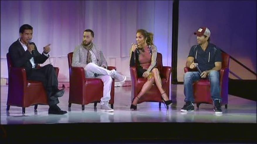 Latino singers JLO, Enrique Iglesias and Wisin y Yandel announced their summer tour at the Monday in Los Angeles, California.