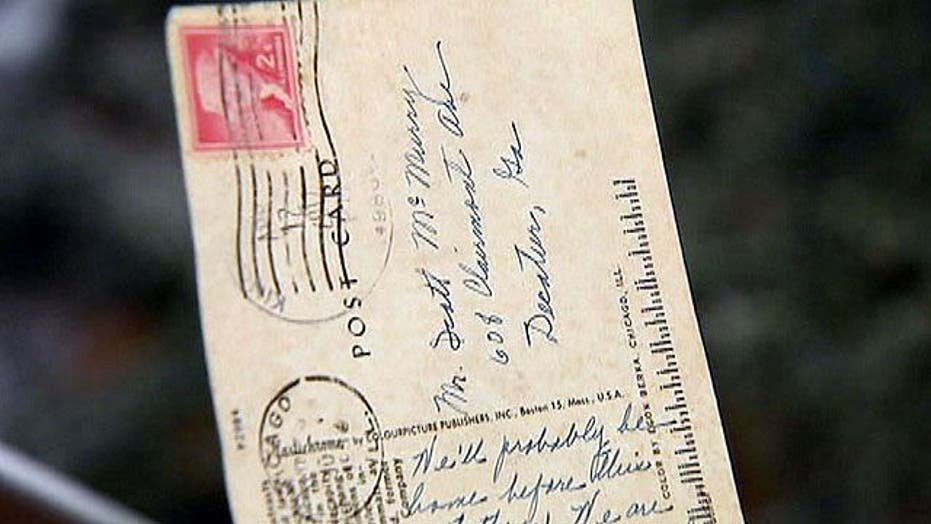 Postcard arrives 55 years later