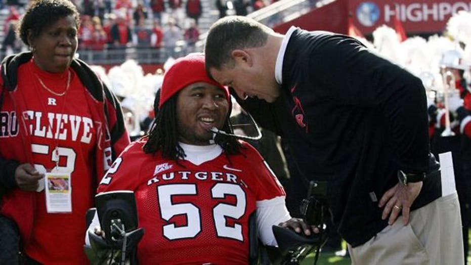 Paralyzed Rutgers football player signed by Tampa Bay