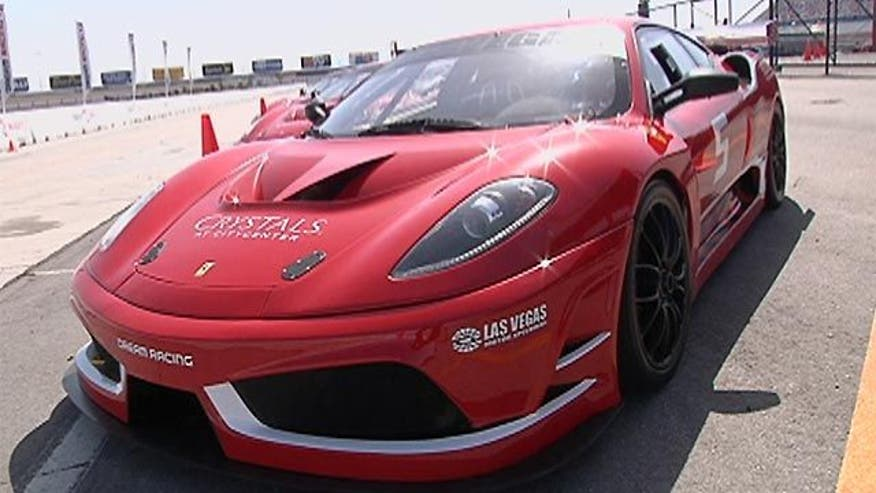 Las Vegas-based Dream Racing allows customers to test drive a Ferrari 430 GT at the Las Vegas Motor Speedway.
