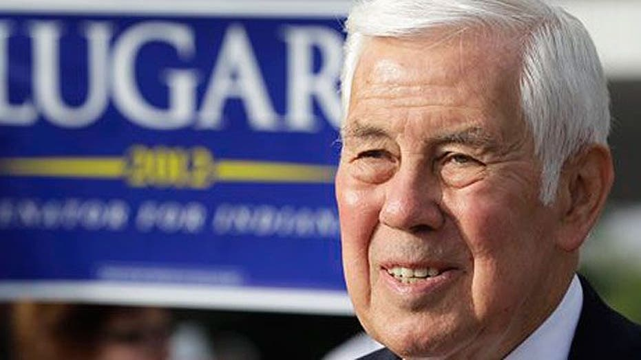 Lugar, Tea Party candidate battle for Senate seat