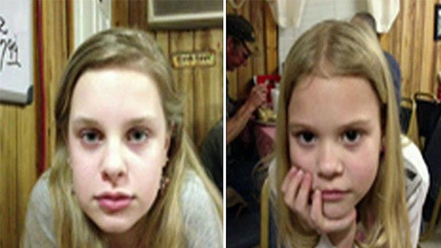 Girls found in wooded area, treated for dehydration