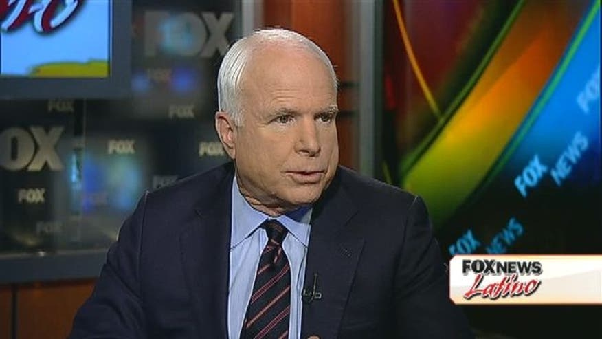 Juan Williams asks Sen. John McCain about how Latinos view him.